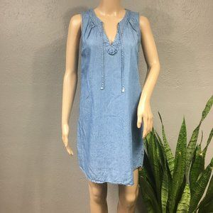 Old Nay Sleeveless Chambray Denim Dress
